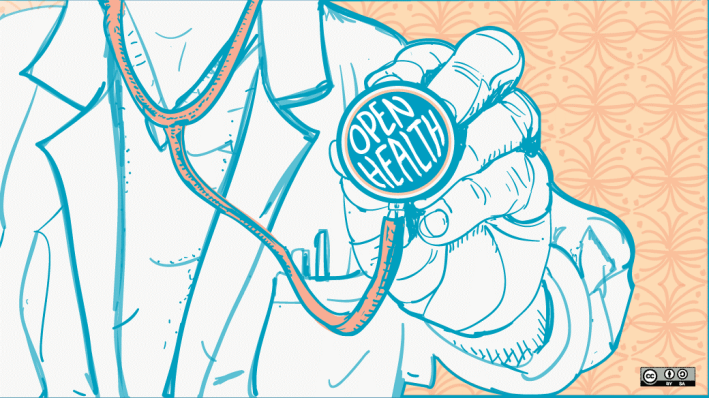 """Open Health: stethoscope"" by Maria Boehling for opensource.com is licensed under CC-BY-2.0."